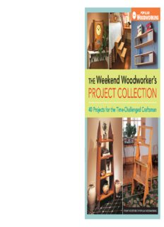 The weekend woodworker's project collection : 40 projects for the time-challenged craftsman