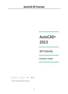 AutoCAD 3D Tutorials - Andrew.cmu.edu