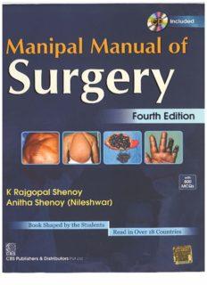 Manipal Manual of Surgery