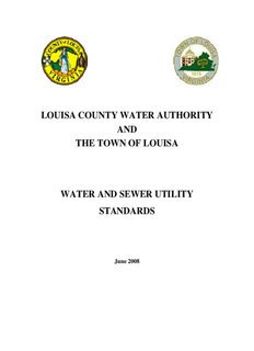 LOUISA COUNTY WATER AUTHORITY AND THE TOWN OF LOUISA WATER AND