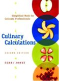 Culinary Calculations: Simplified Math for Culinary Professionals, 2nd Edition