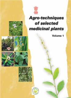 Agro-techniques of selected medicinal plants