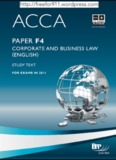 ACCA Paper F4 Corporate and Business Law (English) Study