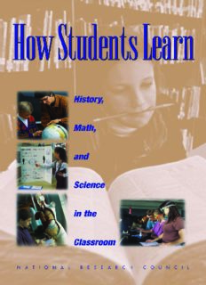 How Students Learn: History, Mathematics, and Science in the Classroom