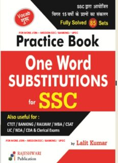 One word substitution For SSC and other competitive exams