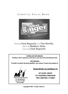 Book by Chad Beguelin and Tim Herlihy Music by Matthew Sklar Lyrics by Chad Beguelin