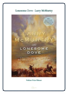 Lonesome Dove (Full Text).