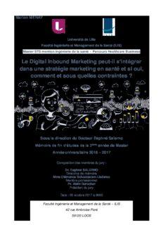 Le Digital Inbound Marketing peut-il s'intégrer dans une stratégie marketing en santé et si oui
