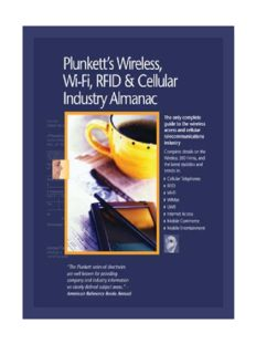 Plunkett's Wireless, Wi-Fi, RFID and Cellular Industry Almanac 2009: Wireless, Wi-Fi, RFID & Cellular Industry Market Research, Statistics, Trends & Leading ... Wi-Fi, Rfid & Cellular Industry Almanac)