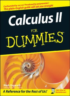 Calculus II For Dummies (For Dummies (Math & Science))