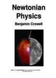 Newtonian Physics Benjamin Crowell