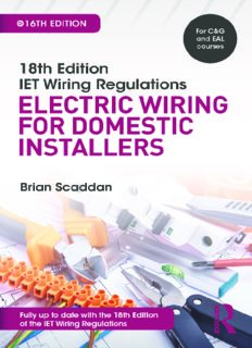 18th edition IET wiring regulations. Electric wiring for domestic installers