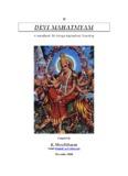 Devi Mahatmyam v1