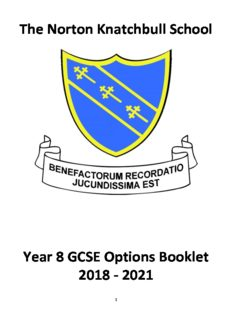 The Norton Knatchbull School Year 8 GCSE Options Booklet 2018