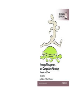 Strategic Management and Competitive Advantage Concepts and Cases