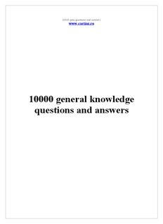 10000 general knowledge questions and answers