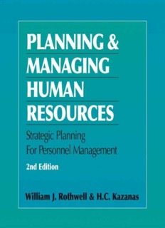 Strategic Planning for Human Resources Management