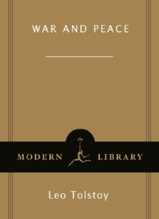 War and peace : Leo Tolstoy
