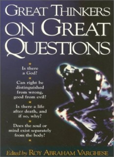 Great Thinkers on Great Questions
