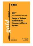 IEEE Std 493 -2007 IEEE Recommended Practice for the Design of Reliable Industrial and Commercial Power Systems