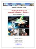 Welding Technology and Inspection Procedures – AWS D1.1