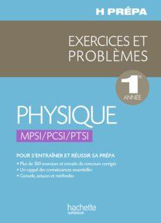 exercices problemes physique mpsi pcsi ptsi