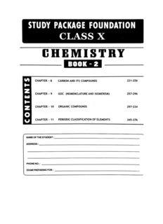 Foundation Chemistry for Class X Part B standard 10 for IIT JEE Foundation