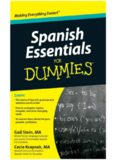 Gail Stein's and Mary Kraynak's 'Spanish Essentials For Dummies'