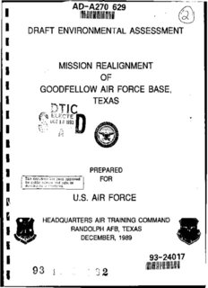 Mission Realignment of Goodfellow Air Force Base, Texas