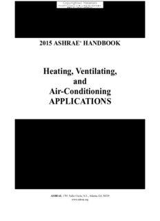 2015 ASHRAE Handbook -- HVAC Applications Heating, Ventilating, and Air-Conditioning Applications (I-P) - (includes CD in I-P and SI editions) (Ashrae Applications Handbook Inch/Pound