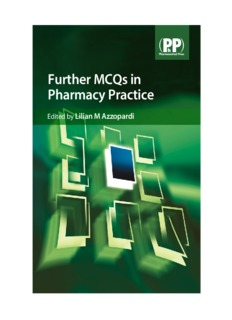 Further MCQ in Pharmacy practice
