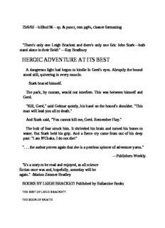 Leigh Brackett - Skaith 2 - The Hounds of Skaith (v1.1 rtf)