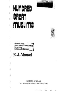 Hundred Great Muslims, By Khwaja Jamil Ahmad
