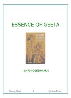 Essence of Geeta - Hindu Temple of Greater Cincinnati