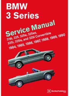 Bentley BMW E30 service manual