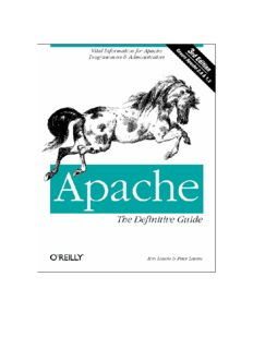 Apache - The Definitive Guide, Third Edition  Ben Laurie, Peter Laurie