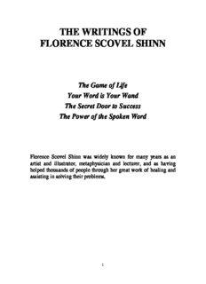 the writing of Florence Scovel Shinn