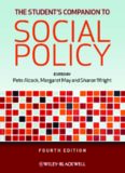 The students companion to social policy