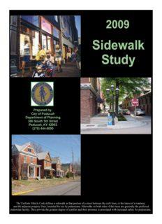 Sidewalk Study Sidewalk Study