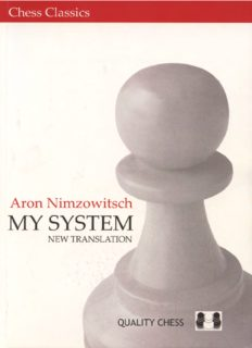 The chess career of Aaron Nimzowitsch