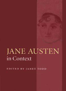 Jane Austen in Context (The Cambridge Edition of the Works of Jane Austen)
