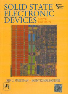 Solid State Electronic Devices, 6th Edition