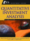 Quantitative Investment Analysis (CFA Institute Investment Series)