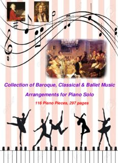 116 Arrangements of Baroque, Classical & Ballet Pieces for Piano Solo
