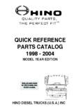 QUALITY PARTS, THE PERFECT FIT - Hino Trucks / HINO TRUCKS USA