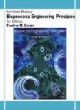 Page 1 Solutions Manual Bioprocess Engineering Principles 1st Edition Pauline M. Doran ...