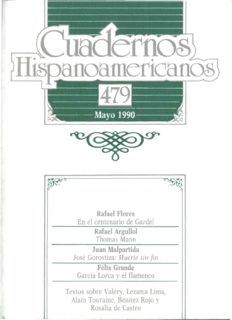 Rafael Flores En el centenario de Gardel Rafael Argullol Thomas Mann Juan Malpartida José ...