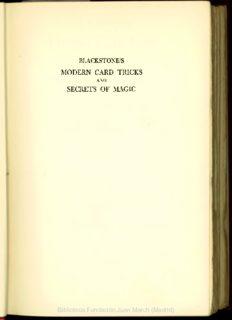 Blackstone's modern card tricks and secrets of magic - Fundación