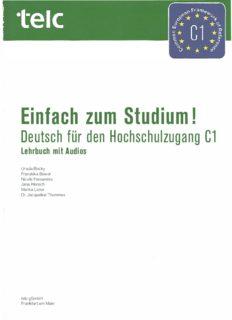 Einfach zum Studium! Deutsch für den Hochschulzugang C1