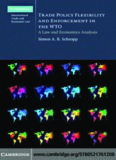 Trade Policy Flexibility and Enforcement in the WTO: A Law and Economics Analysis (Cambridge International Trade and Economic Law)